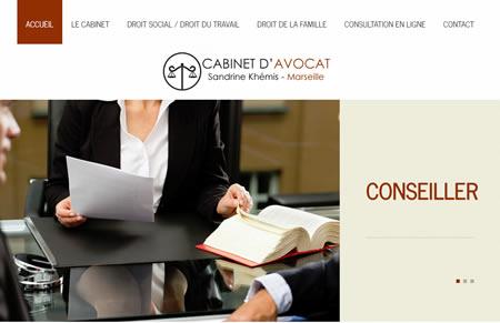 Site web de Maître Khemis