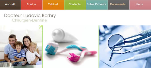 Site web du dentiste L. Barbry