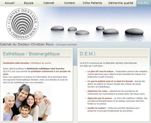 Site Internet du Dr Roux