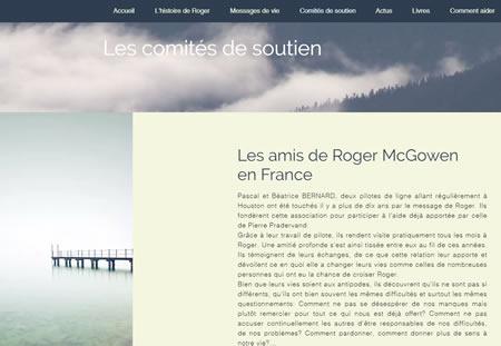Site web des soutiens de Roger Mc Gowen