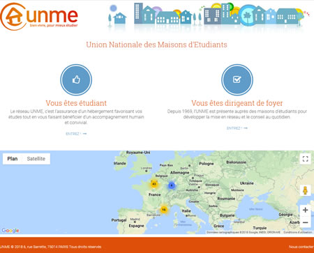 Site Internet de l'association UNME